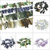 Mischedelstein Perlen, Edelstein, Klumpen, verschiedenen Materialien für die Wahl, 57x18x8mm-23x16x8mm, Bohrung:ca. 1mm, verkauft per ca. 15.7 ZollInch Strang