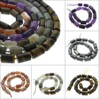 Mischedelstein Perlen, Edelstein, Zylinder, verschiedenen Materialien für die Wahl, 15x12mm, Bohrung:ca. 1mm, verkauft per ca. 16.1 ZollInch Strang
