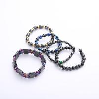 Hämatit Armband, mit Messing Strass Zwischenstück & Kristall, handgemacht, verschiedene Stile für Wahl & für Frau, verkauft per ca. 8 ZollInch Strang