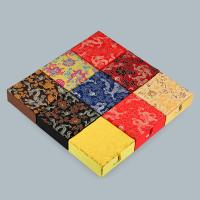 Karton Armbandkasten, mit Stoff, Quadrat, gemischte Farben, 120x120x45mm, 20PCs/Menge, verkauft von Menge