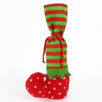 Weihnachtsgeschenkbeutel, Nichtgewebte Stoffe, Weihnachtssocke, Weihnachtsschmuck & verschiedene Muster für Wahl, 350x200mm, 10PCs/Menge, verkauft von Menge