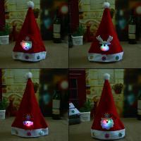 Vliesstoff Weihnachtsmütze, Weihnachtsschmuck & verschiedene Stile für Wahl, rot, 250x360mm, 10PCs/Menge, verkauft von Menge