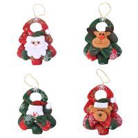 Stoff Weihnachtsschmuck & verschiedene Stile für Wahl, 105x145mm, 10PCs/Menge, verkauft von Menge