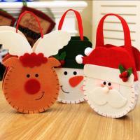 Weihnachtsgeschenkbeutel, Stoff, Weihnachtsschmuck & verschiedene Stile für Wahl, 150x180mm, 10PCs/Menge, verkauft von Menge