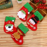 Weihnachtsferien Strümpfe Geschenk Socken, Nichtgewebte Stoffe, Weihnachtssocke, Weihnachtsschmuck & verschiedene Stile für Wahl, 100x160mm, 10PCs/Menge, verkauft von Menge