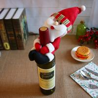 Stoff Weihnachten Wein Bag, Weihnachtsschmuck & verschiedene Stile für Wahl, 130x250mm, 10PCs/Menge, verkauft von Menge