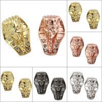Strass Messing Perlen, Ägyptischen Pharao, plattiert, mit Strass, keine, frei von Nickel, Blei & Kadmium, 10x15x13mm, Bohrung:ca. 2mm, verkauft von PC