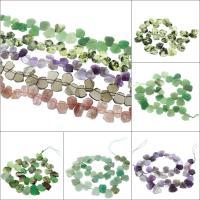 Mischedelstein Perlen, Edelstein, verschiedenen Materialien für die Wahl, 13x11x5mm-27x23x4mm, Bohrung:ca. 1mm, verkauft per ca. 15.1 ZollInch Strang