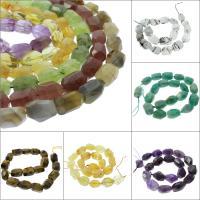 Mischedelstein Perlen, Edelstein, verschiedenen Materialien für die Wahl & facettierte, 18x13x13mm, Bohrung:ca. 1mm, verkauft per ca. 14.9 ZollInch Strang