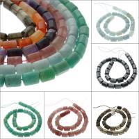 Mischedelstein Perlen, Edelstein, Zylinder, verschiedenen Materialien für die Wahl, 13x8mm, Bohrung:ca. 1mm, ca. 29PCs/Strang, verkauft per ca. 15.3 ZollInch Strang