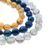 Natürlicher Quarz Perlen Schmuck, oval, bunte Farbe plattiert, verschiedene Größen vorhanden, keine, Bohrung:ca. 1mm, verkauft per ca. 16.1 ZollInch Strang