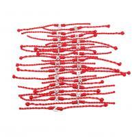 Zinklegierung Armband, mit Nylonschnur, silberfarben plattiert, unisex & mit Strass, frei von Nickel, Blei & Kadmium, 10x10mm, Länge:ca. 8 ZollInch, 10SträngeStrang/Menge, verkauft von Menge