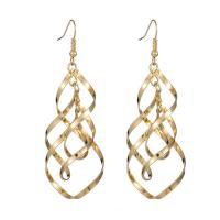 Eisen Ohrring, plattiert, für Frau, keine, frei von Nickel, Blei & Kadmium, 20x75mm, verkauft von Paar