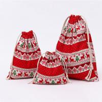 Weihnachtsgeschenkbeutel, Baumwollgewebe, verschiedene Größen vorhanden & verschiedene Muster für Wahl, 20PCs/Menge, verkauft von Menge