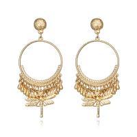 Zinklegierung Ohrringe, Libelle, plattiert, für Frau, keine, frei von Nickel, Blei & Kadmium, 33x76mm, verkauft von Paar