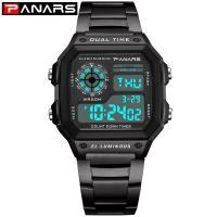 PANARS® Uhrenkollektion, Zinklegierung, mit Glas & Edelstahl, plattiert, verschiedene Muster für Wahl & LED & für den Menschen, keine, 44mm, 24.3mm, Länge:ca. 9 ZollInch, verkauft von PC