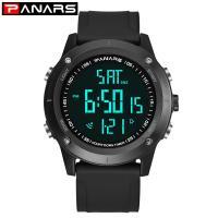 PANARS® Uhrenkollektion, Edelstahl, plattiert, Multifunktions & einstellbar & LED & für den Menschen, keine, 54x14.5mm, 26mm, Länge:ca. 10 ZollInch, verkauft von PC