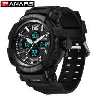 PANARS® Uhrenkollektion, Edelstahl, mit Silikon & Kunststoff, plattiert, Multifunktions & einstellbar & LED & für den Menschen, keine, 59x18mm, 30.5mm, Länge:ca. 10 ZollInch, verkauft von PC