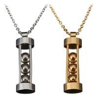 Edelstahl Schmuck Halskette, plattiert, unisex & Oval-Kette, keine, 10x34mm, 1mm, verkauft per ca. 19 ZollInch Strang