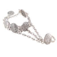 Zink-Legierung Armband-Ring, Zinklegierung, mit Verlängerungskettchen von 6cm, plattiert, unisex & Kugelkette, frei von Blei & Kadmium, verkauft per ca. 5.9 ZollInch Strang