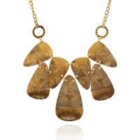 Zinklegierung Schmuck Halskette, antike Goldfarbe plattiert, Twist oval & für Frau, frei von Blei & Kadmium, verkauft per ca. 19.6 ZollInch Strang
