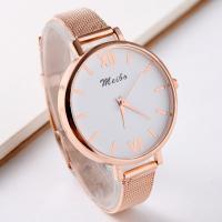 Damen Armbanduhr, Zinklegierung, mit Glas, plattiert, für Frau, keine, frei von Nickel, Blei & Kadmium, 40mm, 2PCs/Menge, verkauft von Menge