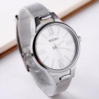 Damen Armbanduhr, Zinklegierung, mit Glas, plattiert, für Frau, keine, frei von Nickel, Blei & Kadmium, 40mm, Länge:ca. 9.5 ZollInch, 2PCs/Menge, verkauft von Menge