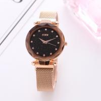 Damen Armbanduhr, Zinklegierung, mit Glas, plattiert, verschiedene Stile für Wahl & für Frau & mit Strass, frei von Nickel, Blei & Kadmium, 40mm, Länge:ca. 9.5 ZollInch, 2PCs/Menge, verkauft von Menge