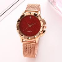 Damen Armbanduhr, Zinklegierung, mit Glas, Rósegold-Farbe plattiert, für Frau & mit Strass, keine, frei von Nickel, Blei & Kadmium, 40mm, Länge:ca. 9.5 ZollInch, 2PCs/Menge, verkauft von Menge