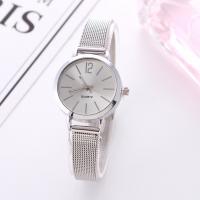 Damen Armbanduhr, Zinklegierung, mit Glas, plattiert, verschiedene Stile für Wahl & für Frau, frei von Nickel, Blei & Kadmium, 40mm, Länge:ca. 9.5 ZollInch, 2PCs/Menge, verkauft von Menge