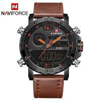NAVIFORCE® Uhrenkollektion, Edelstahl, mit Leder & Glas, plattiert, für den Menschen, keine, 45mm, Länge:ca. 9 ZollInch, verkauft von PC