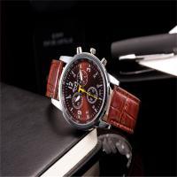 Unisexe Armbanduhr, PU Leder, mit Zinklegierung Zifferblatt & Glas, plattiert, keine, frei von Nickel, Blei & Kadmium, 35mm, 20mm, Länge:ca. 9.5 ZollInch, verkauft von PC