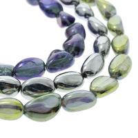 Natürlicher Quarz Perlen Schmuck, Klumpen, bunte Farbe plattiert, verschiedene Größen vorhanden, keine, Bohrung:ca. 1mm, verkauft per ca. 15.7 ZollInch Strang