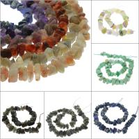Mischedelstein Perlen, Edelstein, Klumpen, verschiedenen Materialien für die Wahl, 12x13x4mm-25x24x20mm, Bohrung:ca. 1mm, verkauft per ca. 15.7 ZollInch Strang