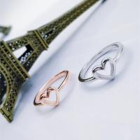 Zinklegierung Fingerring , Herz, plattiert, für Frau, keine, frei von Nickel, Blei & Kadmium, verkauft von PC
