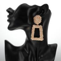 Zinklegierung Ohrringe, Trapez, plattiert, für Frau, keine, frei von Blei & Kadmium, 36x72mm, verkauft von Paar