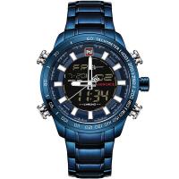 Herren Armbanduhr, Edelstahl, mit Zinklegierung Zifferblatt & Glas, plattiert, Multifunktions & für den Menschen & wasserdicht, keine, 48x16mm, Länge:ca. 9.6 ZollInch, verkauft von PC