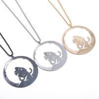 Zinklegierung Pullover Halskette, plattiert, Kastenkette & für Frau, keine, frei von Nickel, Blei & Kadmium, 80x80mm, verkauft per ca. 24 ZollInch Strang