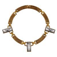 Zinklegierung Collier, mit Verlängerungskettchen von 5cm, goldfarben plattiert, unisex & mit Strass, keine, frei von Blei & Kadmium, verkauft per ca. 17.7 ZollInch Strang