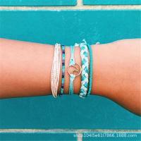 Nylonschnur Armbänder, Nylon, mit Zinklegierung, plattiert, einstellbar & für Frau, keine, verkauft per ca. 8.6 ZollInch Strang