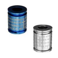Edelstahl-Perlen mit großem Loch, Edelstahl, Kreisring, plattiert, mit Quermuster & mit Brief Muster, keine, 12x14.50x12mm, Bohrung:ca. 6mm, verkauft von PC