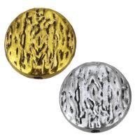 Zinklegierung flache Perlen, flache Runde, plattiert, keine, frei von Nickel, Blei & Kadmium, 12x4mm, Bohrung:ca. 1.5mm, 100PCs/Menge, verkauft von Menge
