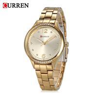 CURREN%C2%AE+Frauen+Schmuck+Uhr, Zinklegierung, mit Glas, plattiert, für Frau & mit Strass, keine, 37mm, Länge:ca. 8.6 ZollInch, verkauft von PC