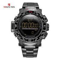 MIZUMS® Uhrenkollektion, Zinklegierung, mit Glas & Edelstahl, plattiert, für den Menschen & glänzend, keine, 48mm, Länge:ca. 9 ZollInch, verkauft von PC