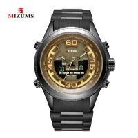 MIZUMS® Uhrenkollektion, Zinklegierung, mit Kunststoff & Glas, silberfarben plattiert, für den Menschen & glänzend, keine, 48mm, Länge:ca. 8.6 ZollInch, verkauft von PC