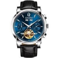 DOM® Uhrenkollektion, Edelstahl, mit Leder & Glas, plattiert, für den Menschen & glänzend, keine, 41mm, Länge:ca. 7.6 ZollInch, verkauft von PC