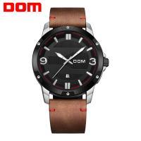 DOM® Uhrenkollektion, Edelstahl, mit PU Leder & Glas, plattiert, für den Menschen & glänzend, keine, 46.5mm, Länge:ca. 7.8 ZollInch, verkauft von PC