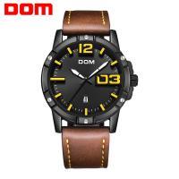 DOM® Uhrenkollektion, Edelstahl, mit PU Leder & Glas, plattiert, für den Menschen & glänzend, keine, 45mm, Länge:ca. 7.8 ZollInch, verkauft von PC