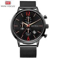 MINIFOCUS® Uhrenkollektion, Edelstahl, mit Glas & Zinklegierung, plattiert, für den Menschen, keine, 46mm, Länge:ca. 9.4 ZollInch, verkauft von PC