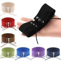 Samt Choker, Baumwollsamt, für Frau, gemischte Farben, 40mm, Länge:ca. 11.8 ZollInch, 10PCs/Menge, verkauft von Menge